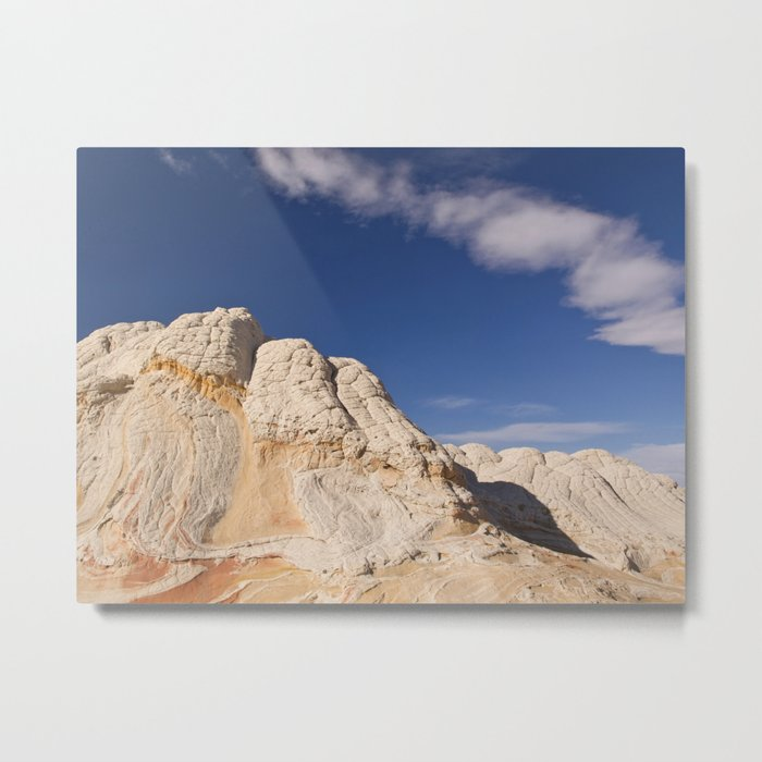White Pocket Metal Print