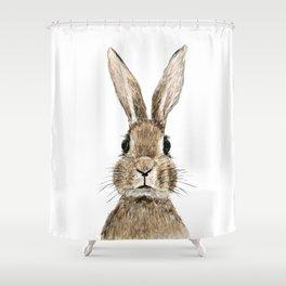 cute innocent rabbit Shower Curtain