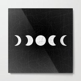 Moon - White Metal Print