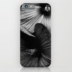 Dramatic Black and White Hibiscus Flowers Macro Slim Case iPhone 6s