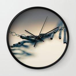 Broken fence Wall Clock