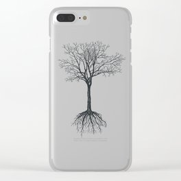 Tree without leaves Clear iPhone Case