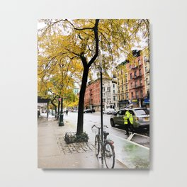 New York streets in the fall Metal Print