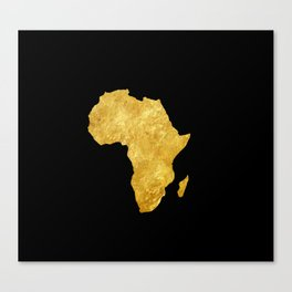 Gold Africa Canvas Print