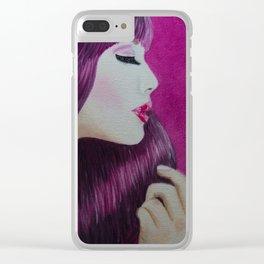 Purple! Clear iPhone Case
