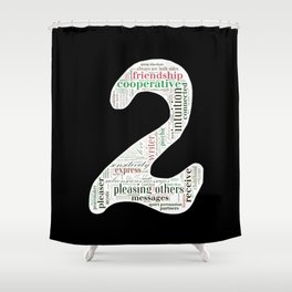 Life Path 2 (black background) Shower Curtain