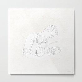 Elisa y papá Metal Print