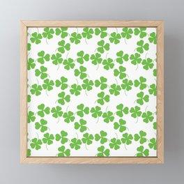 Lucky Shamrock Clover Leaves Framed Mini Art Print