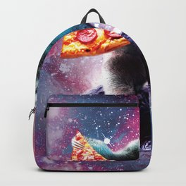Funny Space Sloth With Pizza Riding On Turtle Backpack