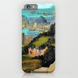 Joachim Patinir - Radwunder der Hl. Katharina - Digital Remastered Edition iPhone Case