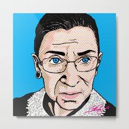 Pop Ruth Bader Ginsburg Metal Print