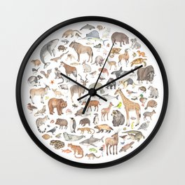 100 animals Wall Clock