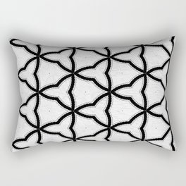 Modern Decor Black and White Geo Pattern Rectangular Pillow