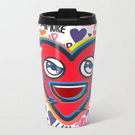 LOVE BEAT Metal Travel Mug