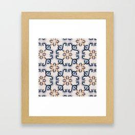 Blue Yellow Portugal Tiles #4 Framed Art Print