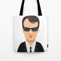 tarantino Tote Bags featuring Tarantino - Mr. Brown by Capitoni