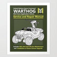 Warthog Service and Repair Manual Art Print