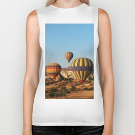 in a hot-air balloon over Cappadocia Biker Tank