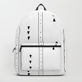 Hand drawn ethnic minimalist pattern Backpack