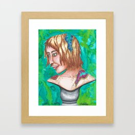 Geode Bust Framed Art Print