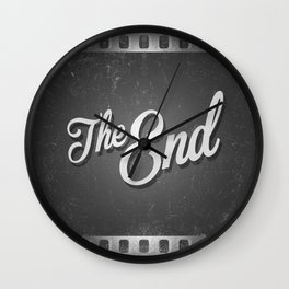 The End / poster Wall Clock