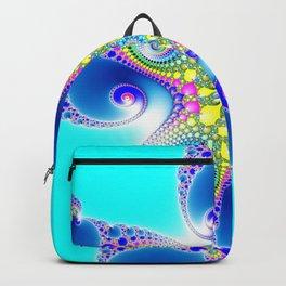 """Chaos Of Light"" Spiral Fractal Art Print Backpack"