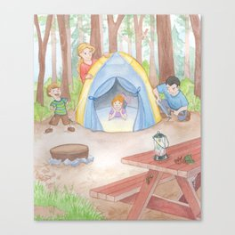 Our Camping Trip Canvas Print