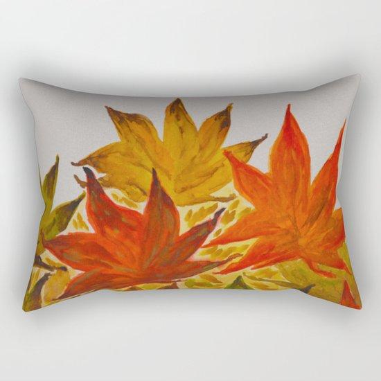 Autumn abstract watercolor 03 Rectangular Pillow