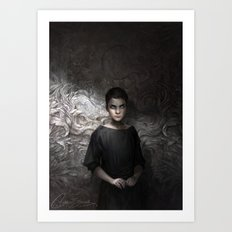 The Bone Carver Art Print