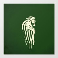 gondor Canvas Prints featuring Rohan Horse heraldry by Nxolab