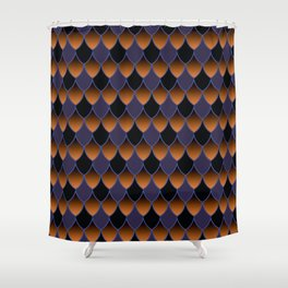 Squama Fhish Dark Pattern Shower Curtain