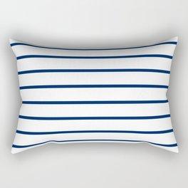 Navy and White Breton Stripes Rectangular Pillow