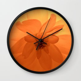 Dahlia Flame Wall Clock