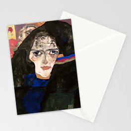 Egon Schiele - Mourning Woman, 1912 Stationery Cards