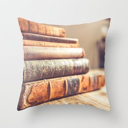Bookish - Library Bookworm Books Throw Pillow
