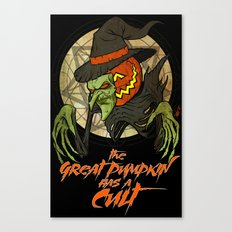 Cult of the Great Pumpkin: Witch Mask Canvas Print