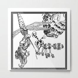 Whimsical Illustration Metal Print