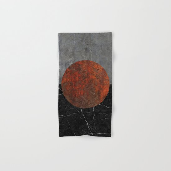 Abstract - Marble, Concrete, and Rusted Iron II Hand & Bath Towel