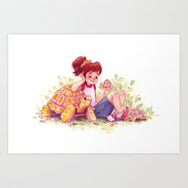 Tortoise Buddies Art Print