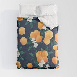 Orange Twist Flower Night Vibes #2 #tropical #fruit #decor #art #society6  Comforters