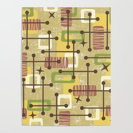 Mid Century Modern Abstract Pattern 834 Poster
