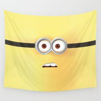 minion Wall Tapestries featuring Minion by ellyonart