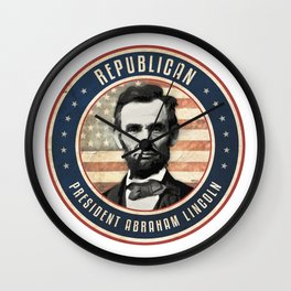 Republican President Abraham Lincoln Wall Clock