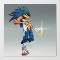sonic Canvas Prints featuring Sonic by Samuel Rivera