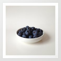 Fresh Blueberries (version 2) Art Print
