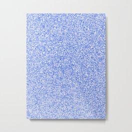 Spacey Melange - White and Royal Blue Metal Print