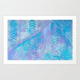 Patterns of Lone Peak Art Print