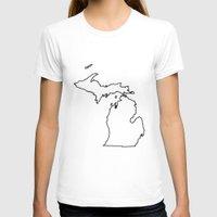 michigan T-shirts featuring Michigan by mrTidwell