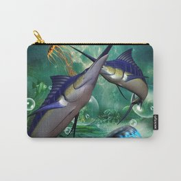 Awesome marlin with jellyfish Carry-All Pouch