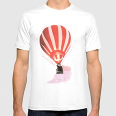 Let's fly away together White MEDIUM Mens Fitted Tee